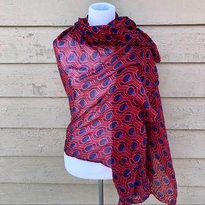 Vibrant Art Deco scarf!